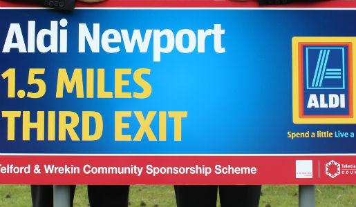 ALDI Newport adds its name to borough roundabouts