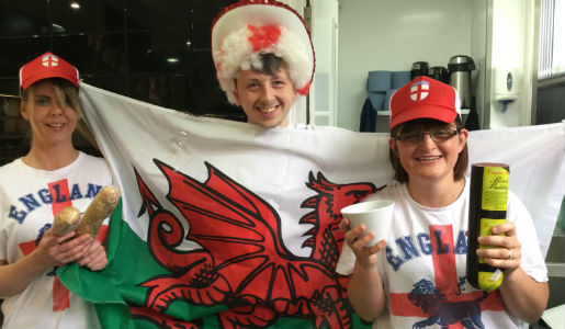 Special England v Wales themed offers at Cafe Go