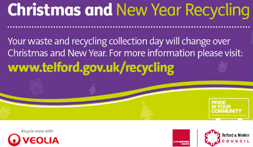 Christmas recycling and council opening times