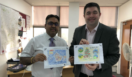 Council Christmas card designs unveiled