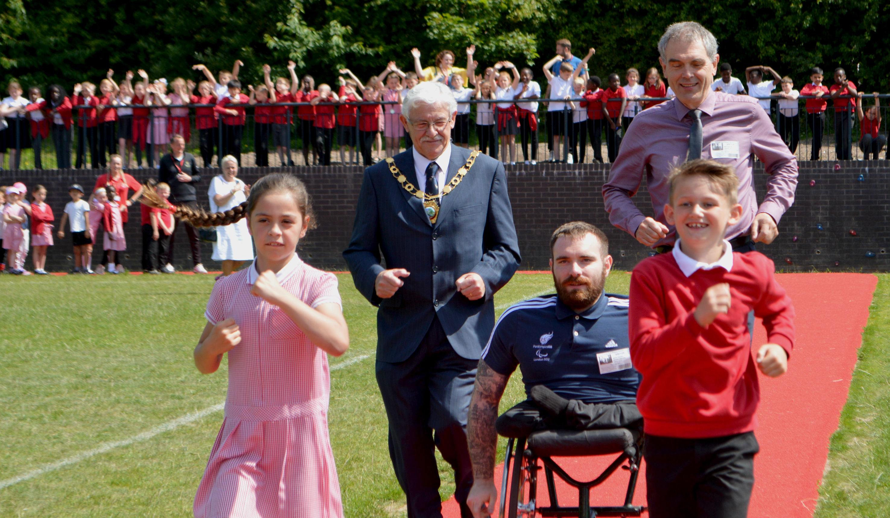 Gold medal Paralympian inspires pupils at Telford primary school