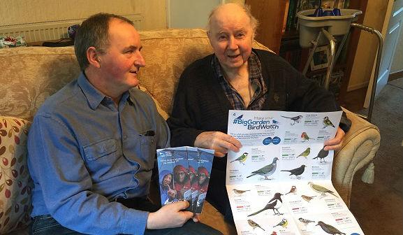 Telford's 'Feed the Birds' group take part in Big Garden Birdwatch