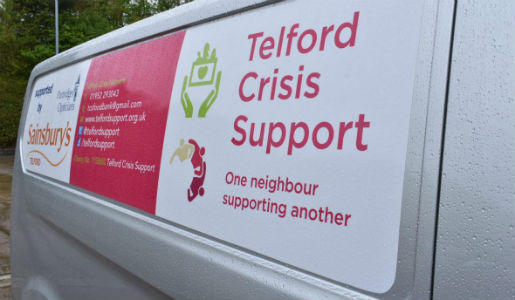 Emergency grants for homeless charities and Telford Crisis Network