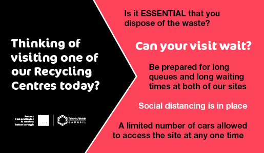 Household Recycling Centres – service update 19 May 2020