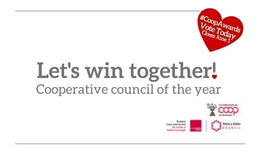Public and Council's partnership approach gets shortlisted for national award - vote today.