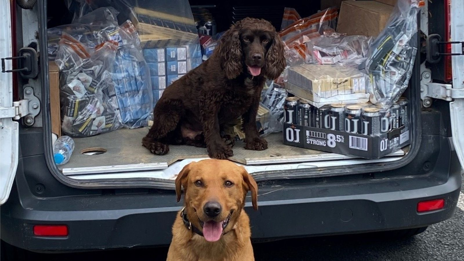 Joint operation yields thousands of pounds of contraband