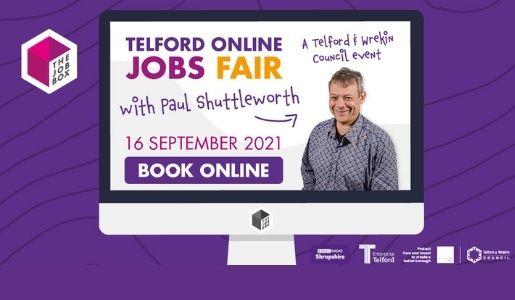 Telford's Online Jobs Fair this September