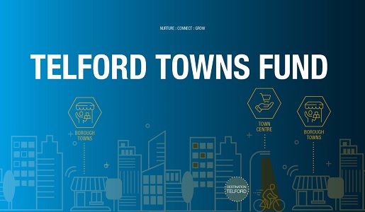 £22.3m Telford Towns Fund award approved
