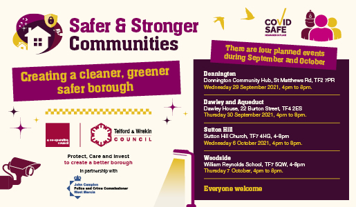 £2.5m investment for Safer and Stronger Communities in Telford and Wrekin