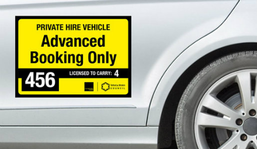 Spot checks on taxis and private hire vehicles in Telford