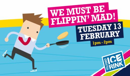 Telford Ice Rink hosts charity pancake race on ice