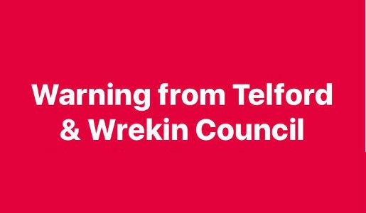 Warning of bogus doorstep sellers in Telford
