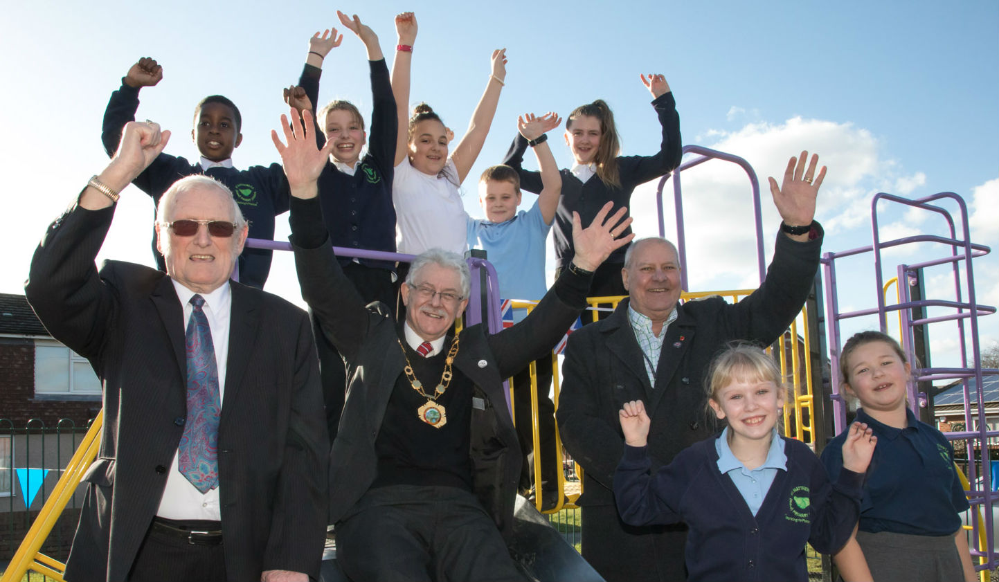 Official opening of Donnington play park and Community Hub