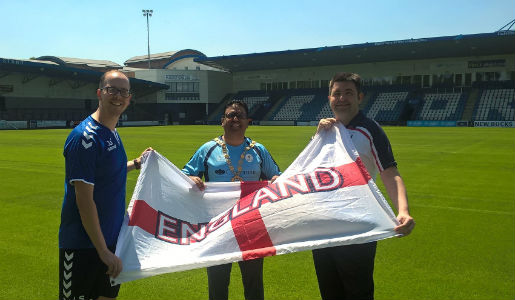 Telford shows support for England ahead of Belgium clash
