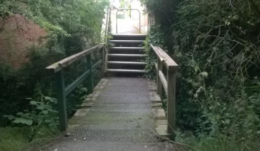 New footbridge at Wesley Brook