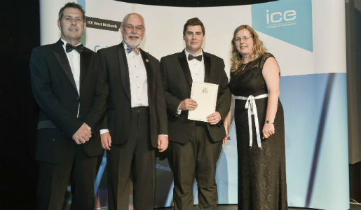Young council talent scoops award from Institution of Civil Engineering