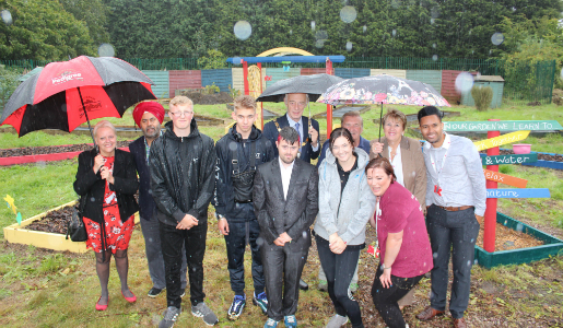 Young men awarded for their hard graft in the garden